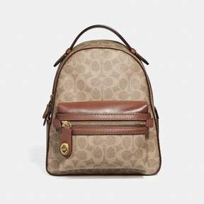 COACH COACH CAMPUS BACKPACK 23 IN SIGNATURE CANVAS - TAN RUST/BRASS