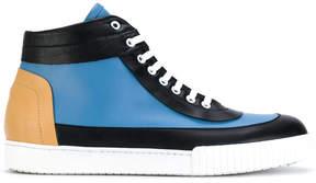 Marni panelled hi-top sneakers