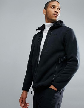 Jack Wolfskin Westfjord Fleece Lined Hoodie in Black