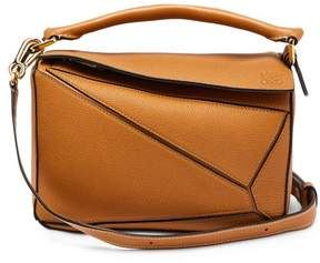 Loewe Puzzle Small Grained Leather Cross Body Bag - Womens - Tan