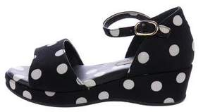 Dolce & Gabbana Girls' Polka Dot Wedge Sandals