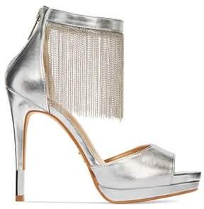 Thalia Sodi Womens Lichi Open Toe Ankle Strap Classic Pumps.