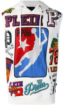 Philipp Plein hooded basket ball printed gilet