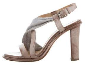 Brunello Cucinelli Leather Monili-Embellished Sandals