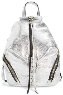 Rebecca Minkoff Mini Julian Metallic Leather Backpack - Metallic - METALLIC - STYLE