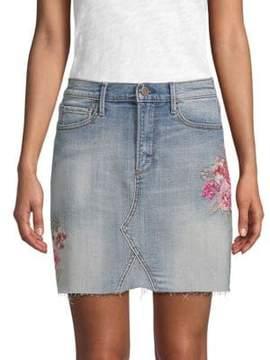Driftwood Embroidered Denim Skirt