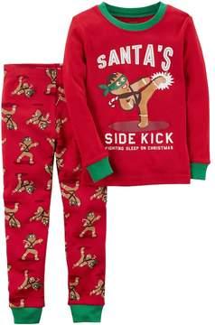 Carter's Toddler Boy Santa's Sidekick Gingerbread Man Top & Bottoms Pajama Set