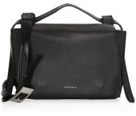 Elena Ghisellini Medium Leather Shoulder Flap Bag