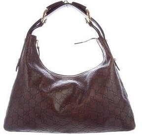 Gucci Guccissima Horsebit Hobo - BROWN - STYLE