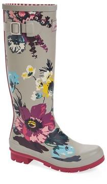 Joules Women's 'Welly' Print Rain Boot