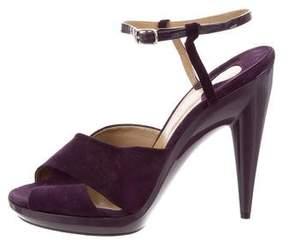 Chloé Platform Suede Sandals