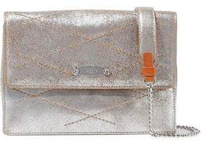 Lanvin Quilted Metallic Cracked-Leather Shoulder Bag