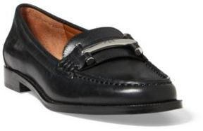 Ralph Lauren Flynn Calfskin Loafer Black 11.5