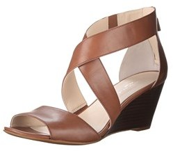 Kenneth Cole Women's Drina Leather Wedge Sandals.