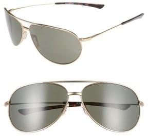 Smith Men's 'Rockford' 65Mm Polarized Aviator Sunglasses - Matte Gold