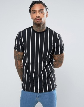 New Look T-Shirt With Stripes In Black