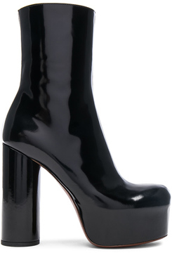Vetements Leather Platform Boots in Black.