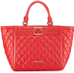 Love Moschino Faux Napa Quilted Tote Bag