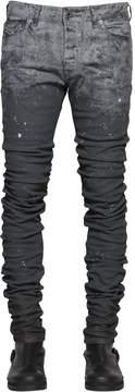 Diesel Black Gold 16cm 3d Extra Long Painted Denim Jeans