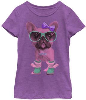 Fifth Sun Purple Berry 'Love' Pooch Tee - Girls