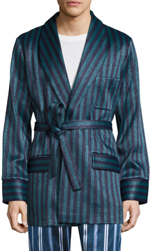 La Perla Men's Striped Short Robe