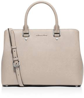 MICHAEL Michael Kors Savannah Large Satchel - CEMENT/SILVER - STYLE