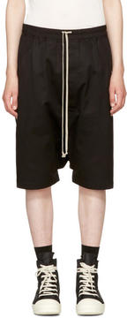 Rick Owens Black Double Twist Ricks Pods Shorts
