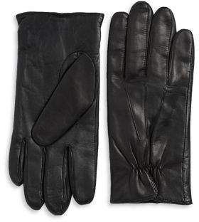 Black & Brown Black Brown Touch Screen Leather Gloves
