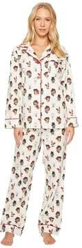 BedHead Long Sleeve Classic Flannel Pajama Set Women's Pajama Sets