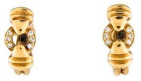 Charriol 18K Diamond Cable Huggie Earrings