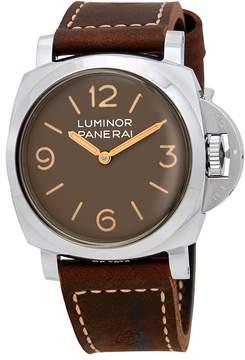 Panerai Luminor 1950 Acciao Brown Dial Men's Watch