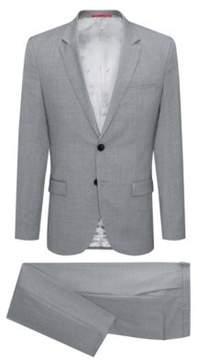 HUGO Boss Italian Wool Suit, Extra Slim Fit Arti/Hesten 44R Open Grey