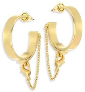 Eddie Borgo Thin Safety Chain Hoop Earrings/1.75
