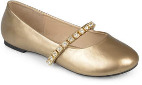 Journee Collection Gold Mona Ballet Flat