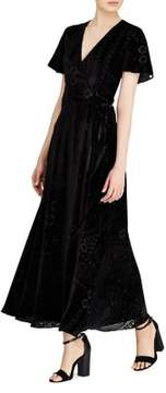 Polo Ralph Lauren Burn-Out Velvet Wrap Maxidress