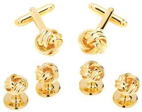 Ox & Bull Trading Co. Men's Metal Gold Knot Stud Set