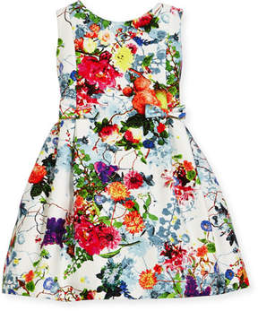 Helena Sleeveless Pleated Floral Dress, Size 7-14