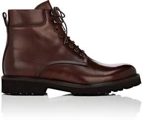 Barneys New York Men's Lug-Sole Leather Boots