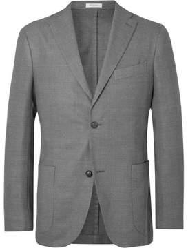 Boglioli Grey Unstructured Virgin Wool-Blend Blazer