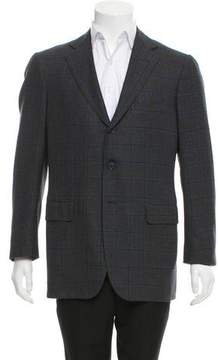 Luciano Barbera Plaid Wool Blazer