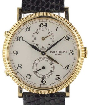 Patek Philippe Travel Time 5034J 18K Yellow Gold & Leather 34mm Watch