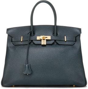 Hermes Vintage Bamboo Birkin Courchevel Satchel Bag, Blue - BLUE - STYLE