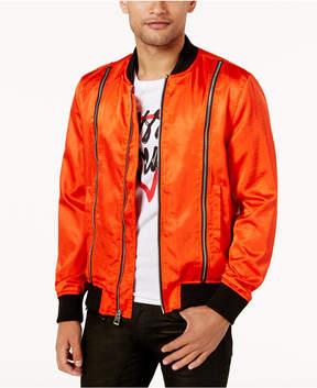 GUESS Men's Irvine Satin Double Zip Jacket