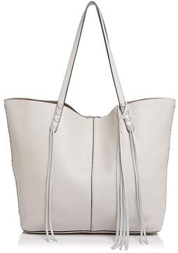 Rebecca Minkoff Unlined Whipstitch Medium Pebbled Leather Tote - PUTTY/GUNMETAL - STYLE