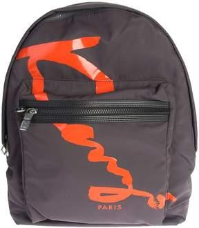 Kenzo Logo Print Nylon Backpack