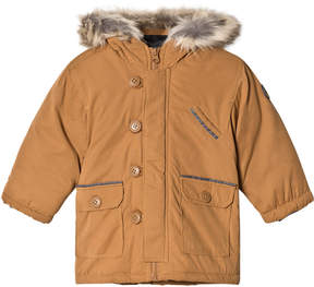 Absorba Tan Padded Hooded Coat