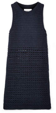 Eleven Paris SIX - Sade Crocheted Pima Cotton Tunic - Midnight blue