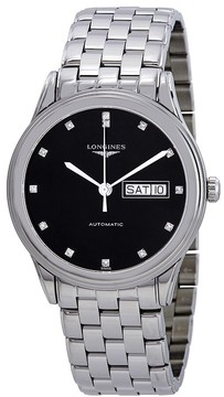 Longines Flagship Automatic Diamond Black Dial Men's Watch