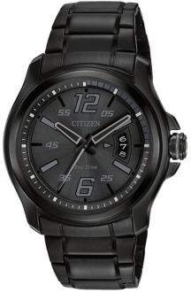 Citizen Eco-Drive HTM Black Ion-Plated Watch, AW1354-82E