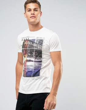 New Look T-Shirt In New York City Print In White
